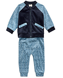 First Impressions Baby Boys 2-Pc. Varsity Jacket & Jogger Pants Set, Created For Macy's