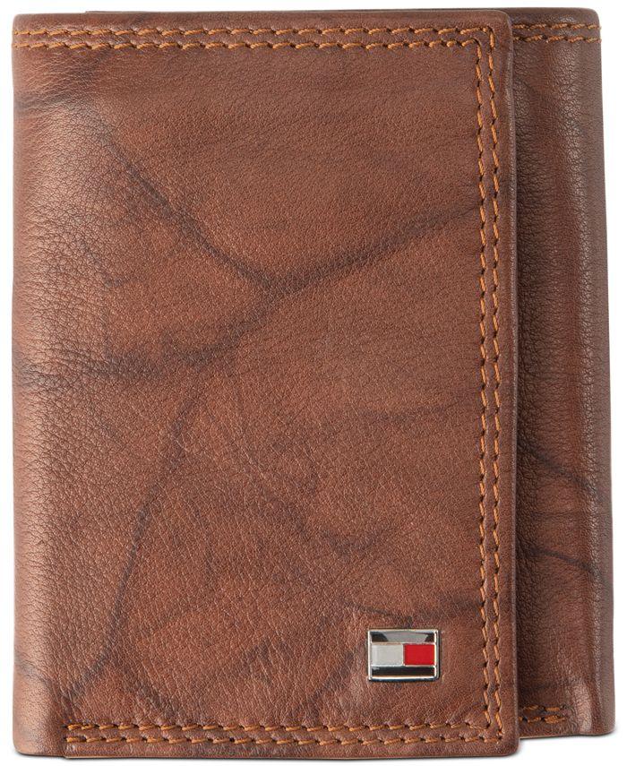 Tommy Hilfiger - Men's Leather Zip-Pocket RFID Wallet
