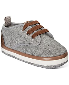 First Impressions Baby Boys Faux-Leather-Trim Sneakers, Created for Macy's