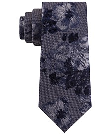 Michael Kors Men's Textured Large Botanical Tie