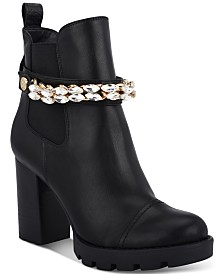 GUESS Women's Rafiele Embellished Booties
