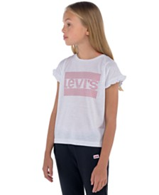 Levi's® Big Girls Ruffle-Sleeve Logo T-Shirt