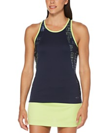 Grand Slam Colorblocked Racerback Tennis Tank Top