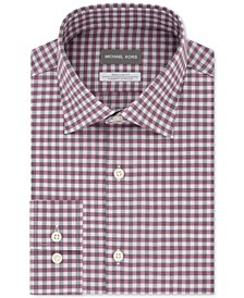 Men's Classic-Fit Airsoft Performance Stretch Gingham Shirt