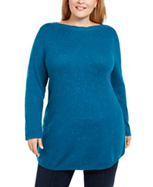 Karen Scott Plus Size Curved Hem Tunic, Created For Macy's