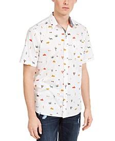 Men's Hieroglyphics Print Shirt, Created For Macy's