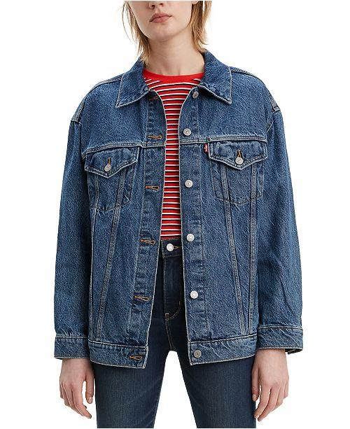 Levi's Women's Baggy Trucker Embellished Cotton Denim Jacket
