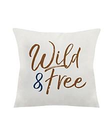 Stratton Home Decor Wild Free Square Pillow