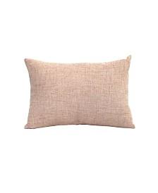 Stratton Home Decor Tweed Lumbar Pillow