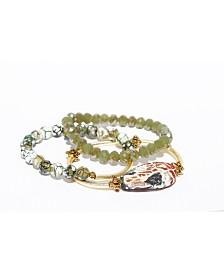 Michael Gabriel Designs Turtle Agate Barre Bracelet