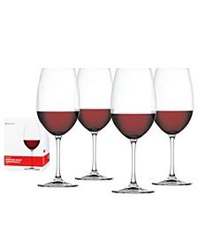 Salute 25 Oz Bordeaux Glass Set of 4