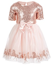 Little Girls Sequined Unicorn Dress