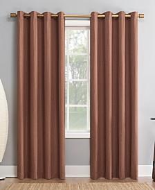 "Sun Zero Patina 52"" x 95"" Textured Blackout Curtain Panel"