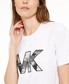 Michael Michael Kors Camo Logo Cotton T-Shirt