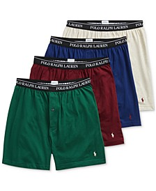 Men's 3 +1 Bonus Pk. Knit Cotton Boxers, Created for Macy's