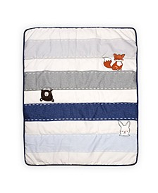 Furever Friends Nursery Crib Set, Blue