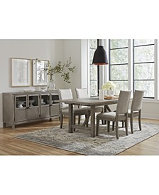 Parker Dining 5-Pc. set (Table & 4 Side Chairs), Created for Macy's