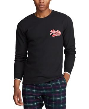 Polo Ralph Lauren T-shirts MEN'S POLO SCRIPT WAFFLE CREWNECK PAJAMA SHIRT