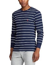 Polo Ralph Lauren Men's Stripe Waffle Crewneck Pajama Shirt