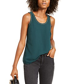 INC Studded Woven Tank Top, Created For Macy's