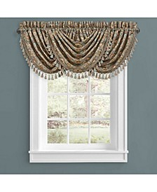 Victoria   Turquoise Turquoise Window Waterfall Valance