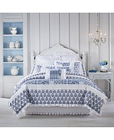 Tessa Navy Queen 4pc. Comforter Set