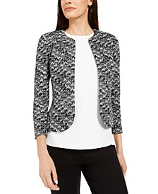 Textured Kiss-Front Jacket