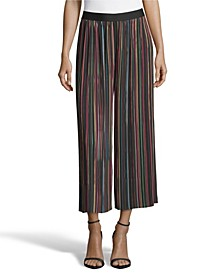 Pleated Pants with Multi Stripes