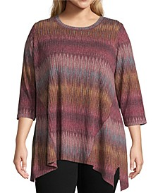 Plus Asymmetric Hem Knit Top