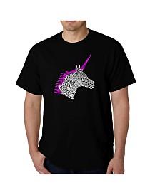 LA Pop Art Men's Word Art T-Shirt - Unicorn