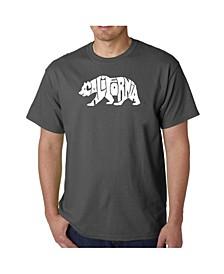 Men's Word Art T-Shirt - California Bear
