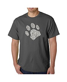 Men's Word Art T-Shirt - Dog Paw