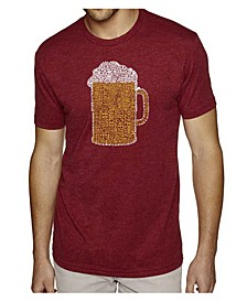 Men's Premium Word Art T-Shirt - Slang Terms For Being Wasted