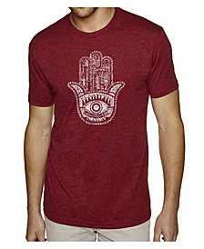 Men's Premium Word Art T-Shirt - Hamsa