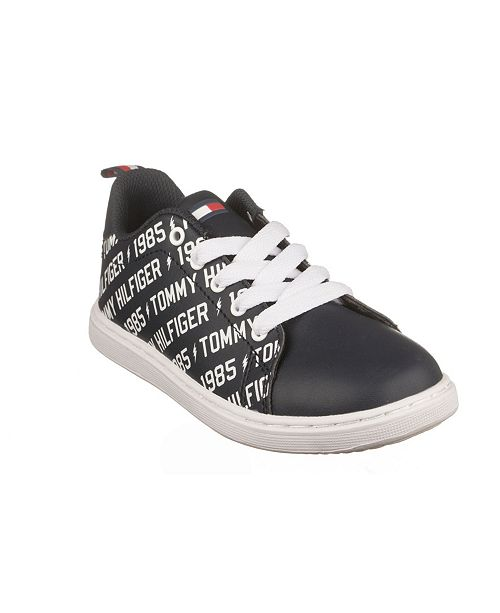 Tommy Hilfiger Toddler, Little and Big Boys Iconic Court Logo Sneakers