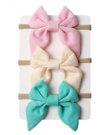 Emerson and Friends Baby Girl Bow Headband Set