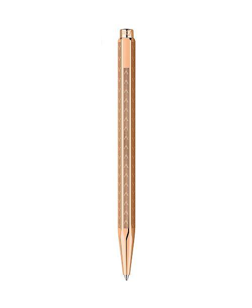 CARAN d'ACHE Ecridor Chevron - Rose Gold, Ballpoint Pen