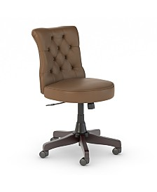 Kathy Ireland Home by Bush Furniture Ironworks Mid Back Tufted Office Chair