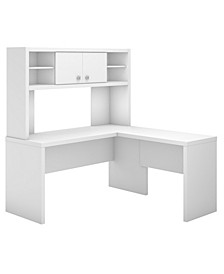 Echo L Shaped Desk with Hutch
