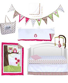 Pam Grace Creations Sweet Dreams Owl 10 Piece Crib Bedding Set