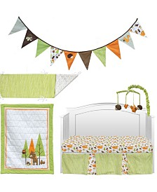 Pam Grace Creations Friendly Forest Creatures 6 Piece Crib Bedding Set