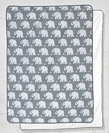 Reversible Chenille Dot Baby Blanket