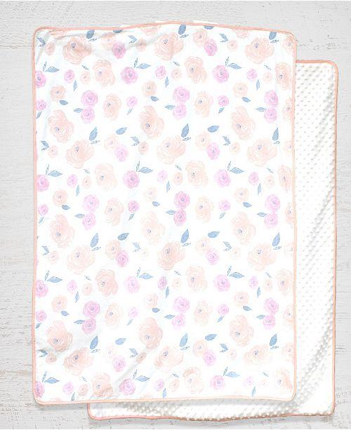 Pam Grace Creations Vintage Like Rose Blanket