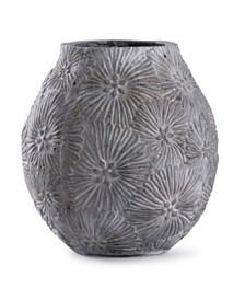 Cleobury Blue Floral Concrete Vase