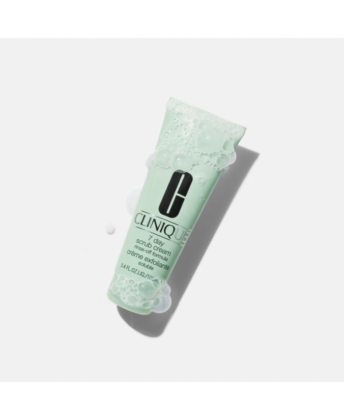 Clinique 7 Day Scrub Cream Rinse-Off Formula, 3.4 fl oz & Reviews - Skin Care - Beauty - Macy's