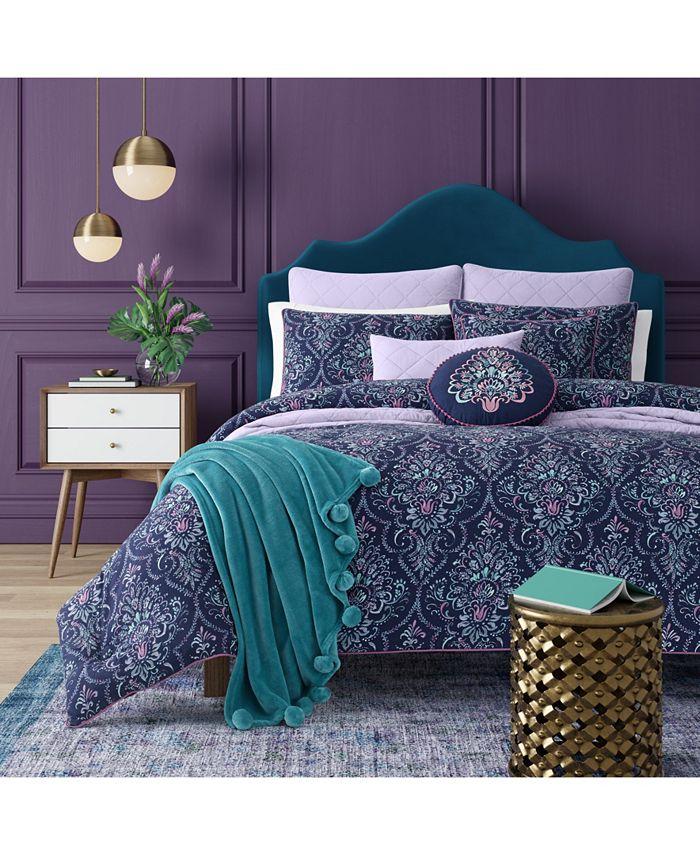 J Queen New York - Kayani Indigo Full/Queen 3pc. Comforter Set