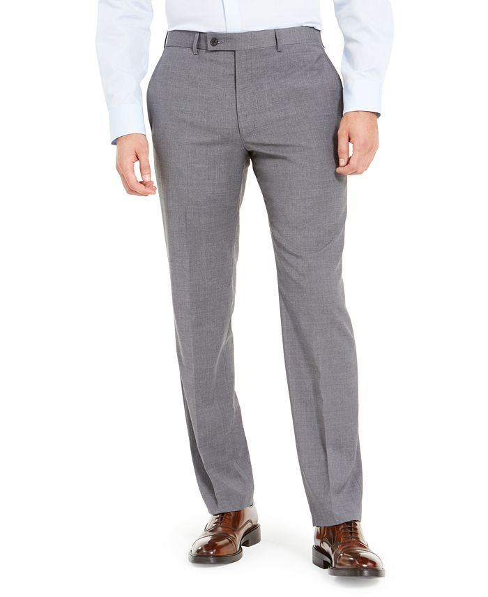 Lauren Ralph Lauren - Men's Wool-Blend Classic-Fit UltraFlex Stretch Dress Pants