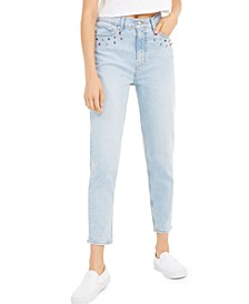 Women's Embellished High-Waisted Ankle Jeans