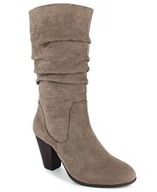 Esprit Oliana Pleated-Shaft Boots