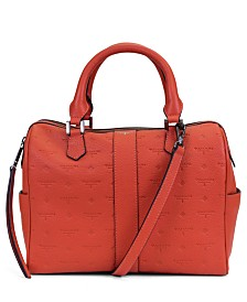 T Tahari Logo Leather Satchel